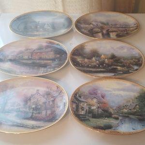 Thomas Kinkade Lamplight village plates